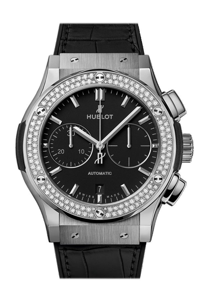 Hublot Classic Fusion 45mm  Black Dial Chronograph Titanium Automatic Men's Watch 521.NX.1171.LR