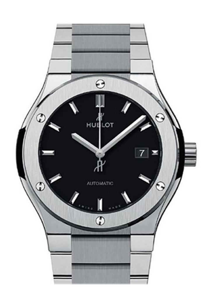 Hublot Classic Fusion 42mm Matte Black Dial Automatic Titanium Men's Watch 548.NX.1170.NX