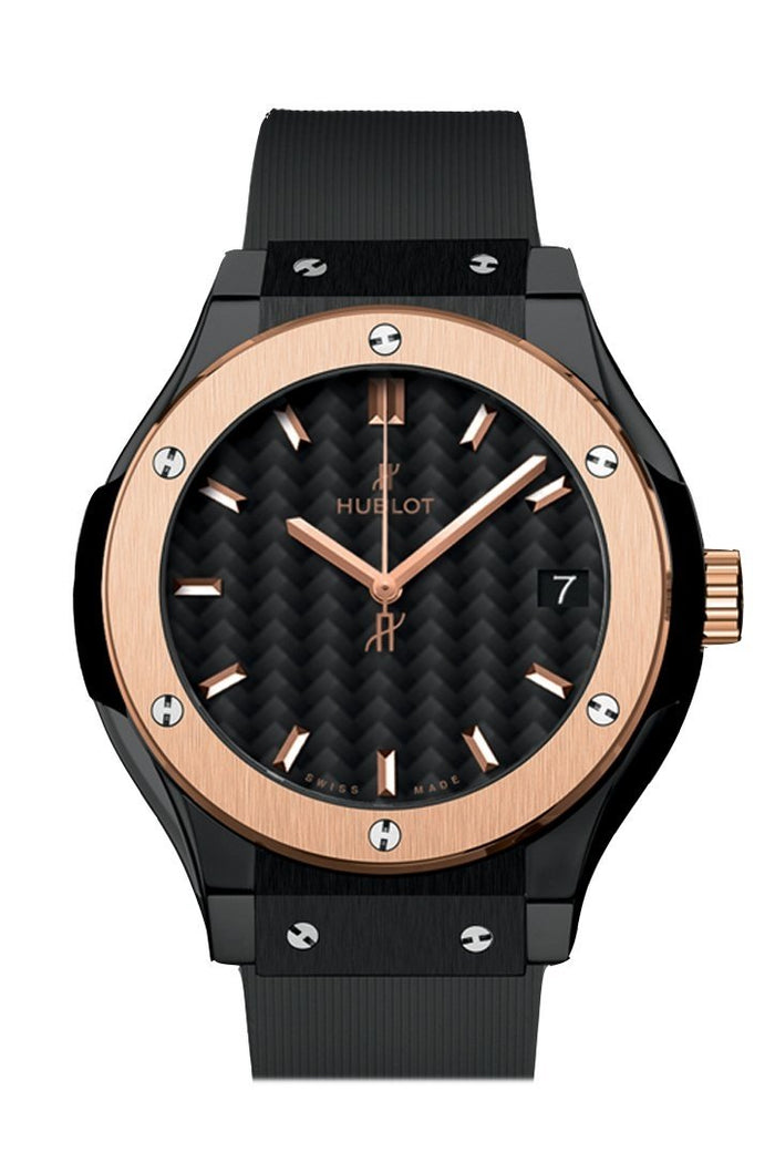 Hublot Classic Fusion 33mm Black Dial Black Rubber Watch 581.CO.1781.RX