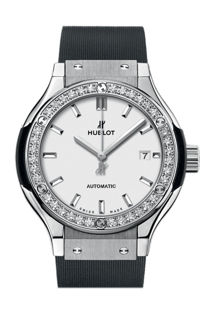 Hublot Classic Fusion 33mm Quartz Titanium Ladies Watch 582.NX.2610.RX