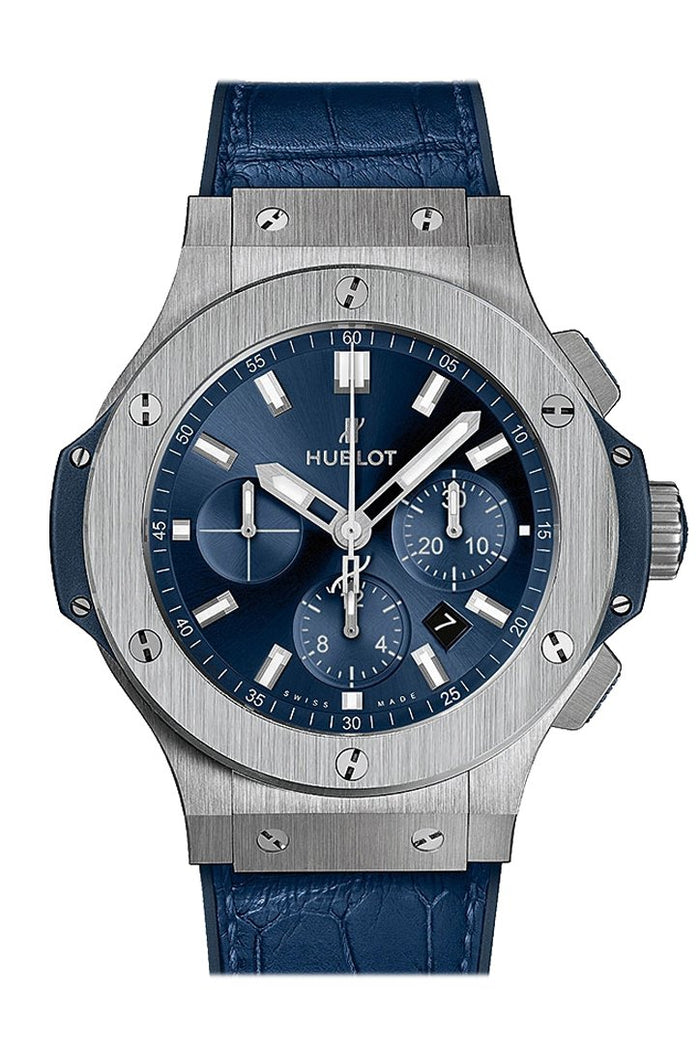 Hublot Big Bang Black Dial Diamond Blue Ladies 38mm Watch 361.SX.7170.LR.1204