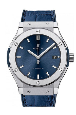 Hublot Classic Fusion Blue Sunray Dial Titanium Automatic 45Mm Mens Watch 511.nx.7170.lr