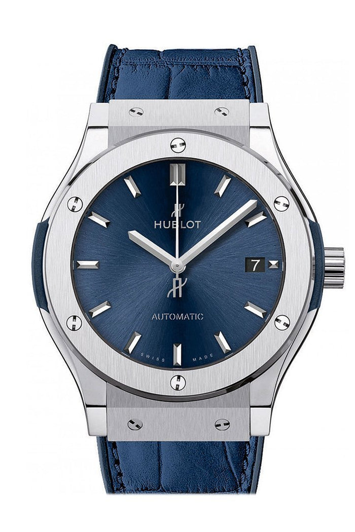 Hublot Classic Fusion Blue Sunray Dial Titanium Automatic 45mm Men's Watch 511.NX.7170.LR