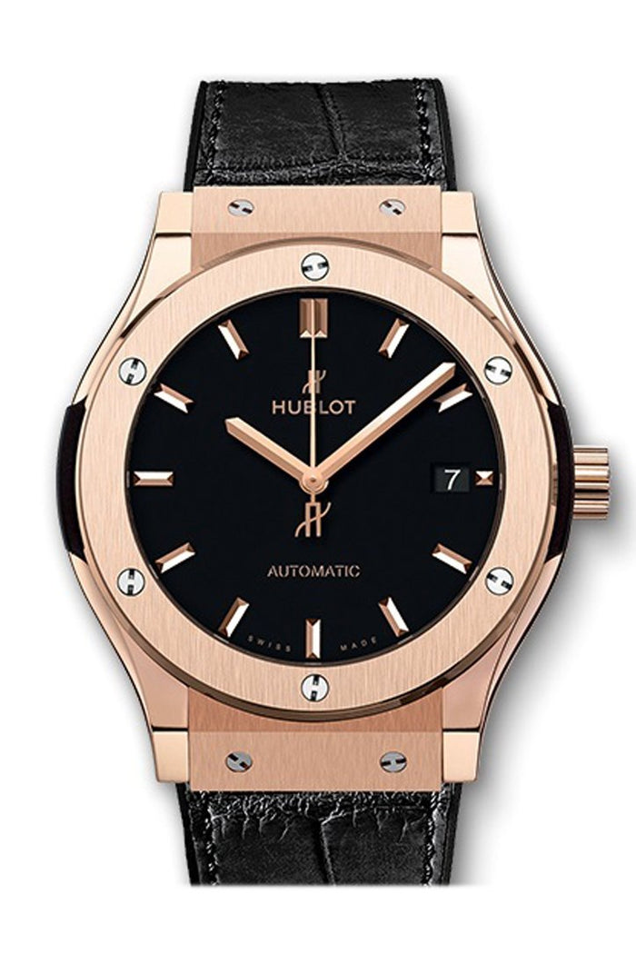 Hublot Classic Fusion Mat Black Dial Automatic Men's 18 Carat King Gold Watch 511.OX.1181.LR