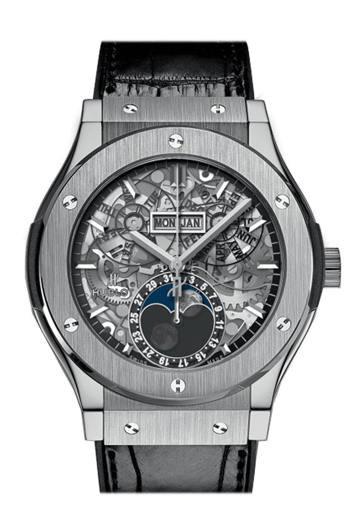 Hublot Classic Fusion Aerofusion Moonphase Sapphire Dial Titanium 45mm Men's Watch 517.NX.0170.LR