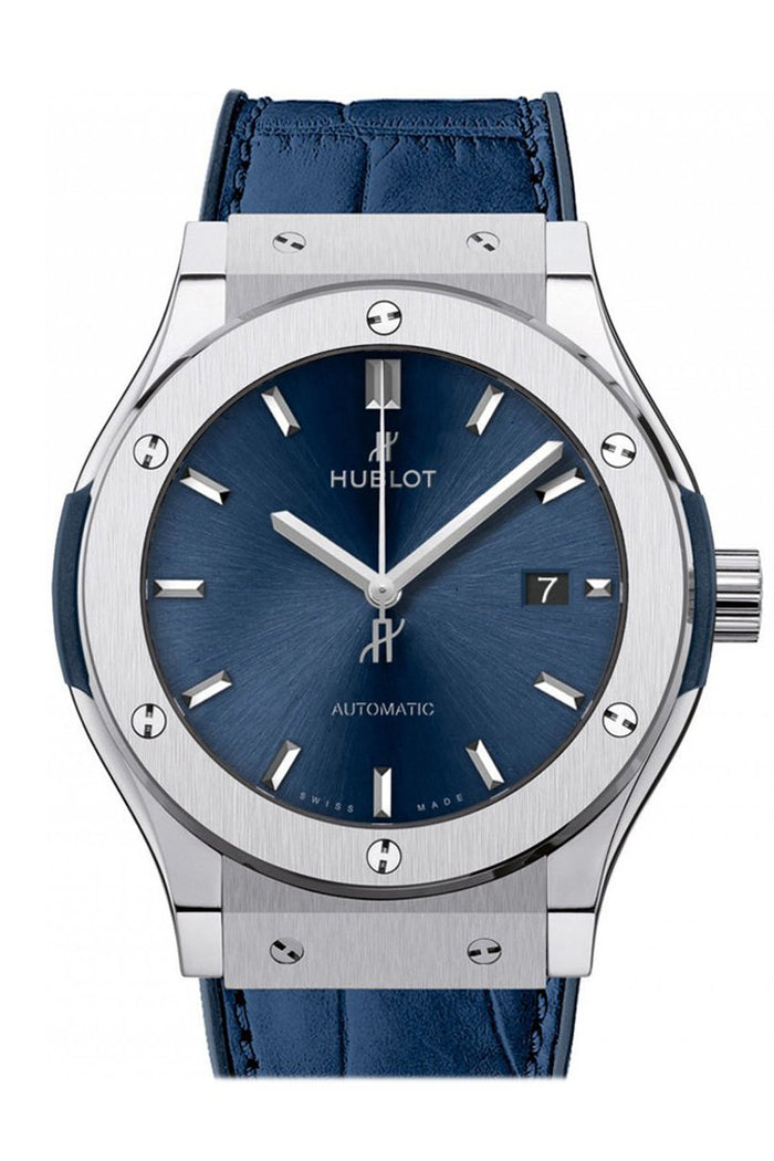 Hublot Classic Fusion Automatic Blue Sunray Dial Titanium 42mm Men's Watch 542.NX.7170.LR