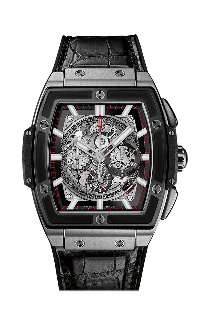 Hublot Spirit of Big Bang Men's Automatic Black Leather Strap 45mm Watch 601.NM.0173.LR