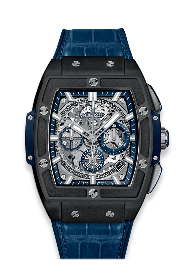 Hublot Spirit of Big Bang Black Ceramic Blue Men's Watch 641.CI.7170.LR