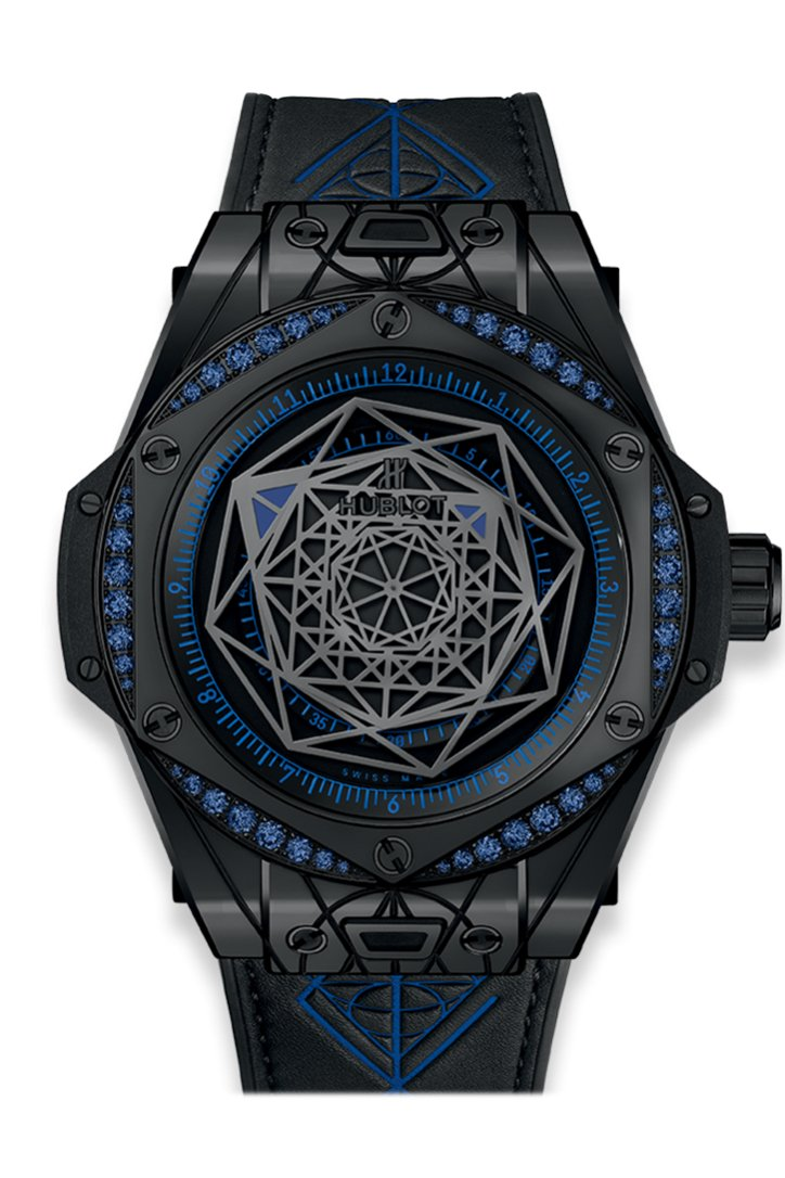 Hublot Big Bang Sang Bleu All Black Blue 465.CS.1119.VR.1201.MXM18