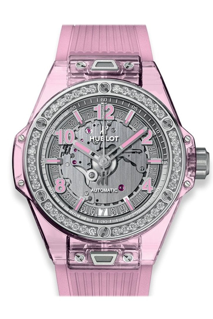Hublot Big Bang One Click Pink Sapphire Diamonds Watch 465.JP.4802.RT.1204