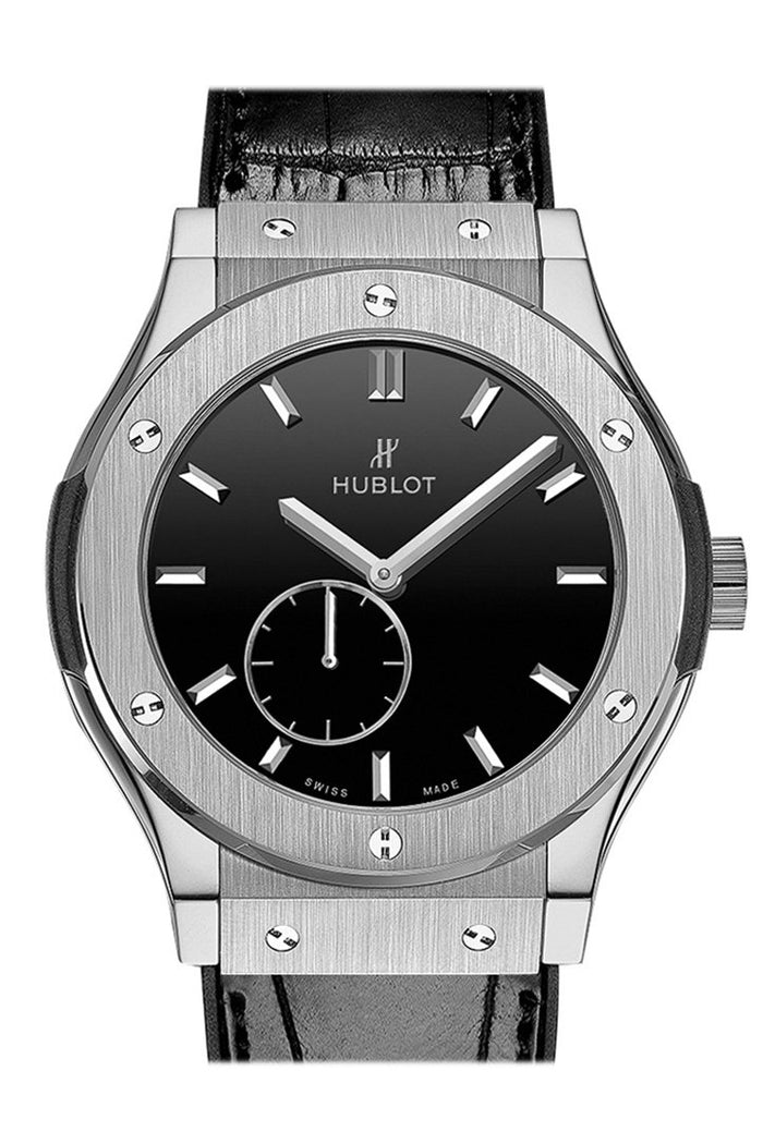 Hublot Classic Fusion Black Dial Titanium Men's Watch 515.NX.1270.LR