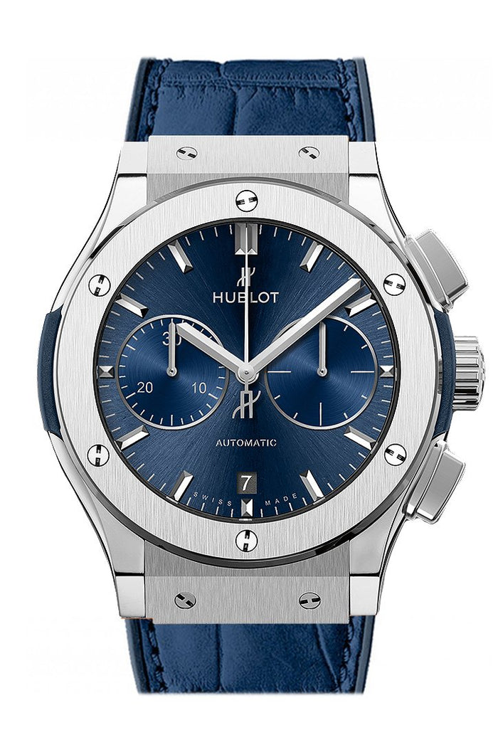 Hublot Classic Fusion Blue Sunray Dial Titanium Automatic Men's Watch 521.NX.7170.LR