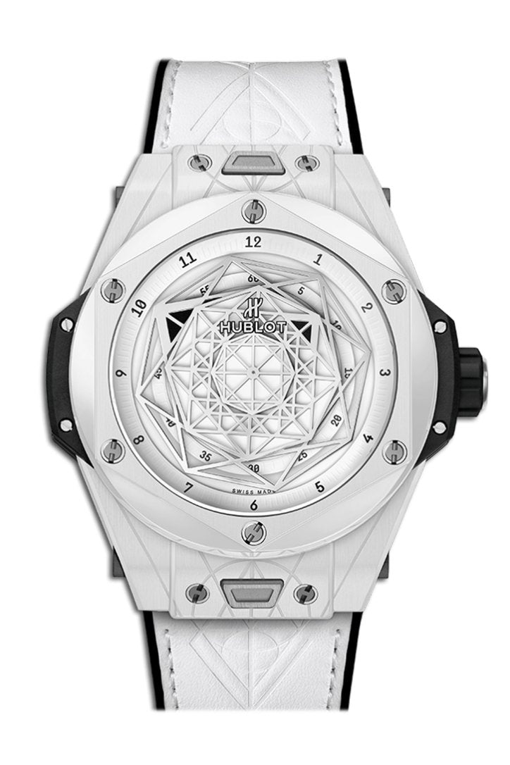 Hublot Big Bang Sang Bleu White Dial Ceramic Mens Watch 415.HX.2027.VR.MXM19
