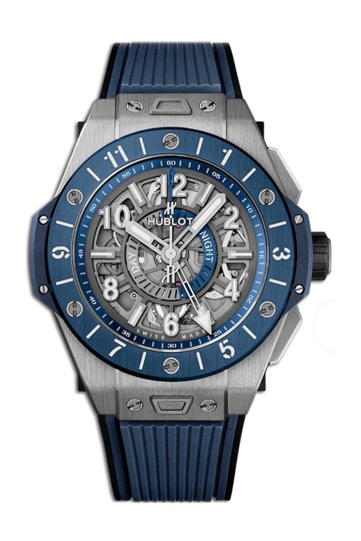 Hublot Big Bang Unico Titanium Blue Ceramic GMT Men's Watch 471.NL.7112.RX