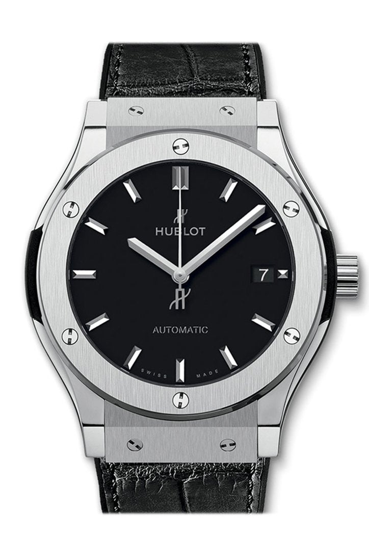 Hublot Classic Fusion Automatic Black Dial Titanium Men's Watch 542.NX.1171.LR