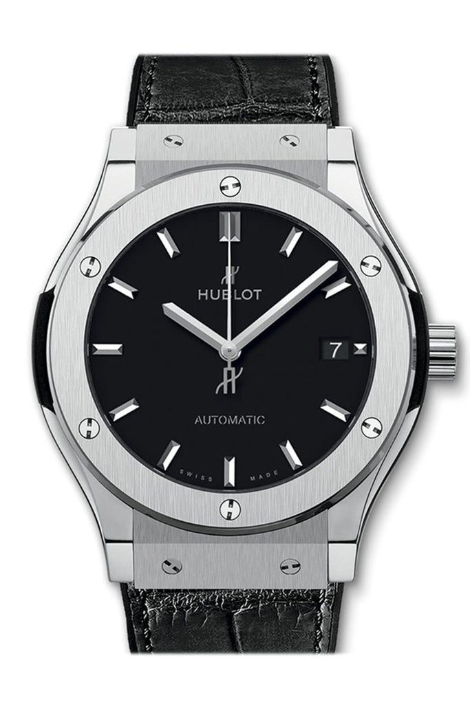 Hublot Classic Fusion Automatic Black Dial Titanium Mens Watch 542.nx.1171.lr