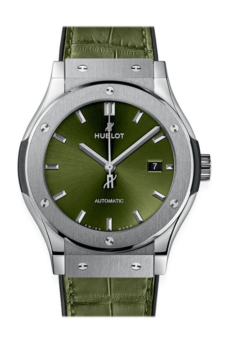 Hublot Classic Fusion Green Sunray Dial Automatic Men's Watch 542.NX.8970.LR