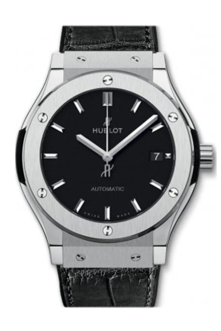 Hublot Classic Fusion Automatic Black Dial Titanium Men's Watch 542.NX.1171.R