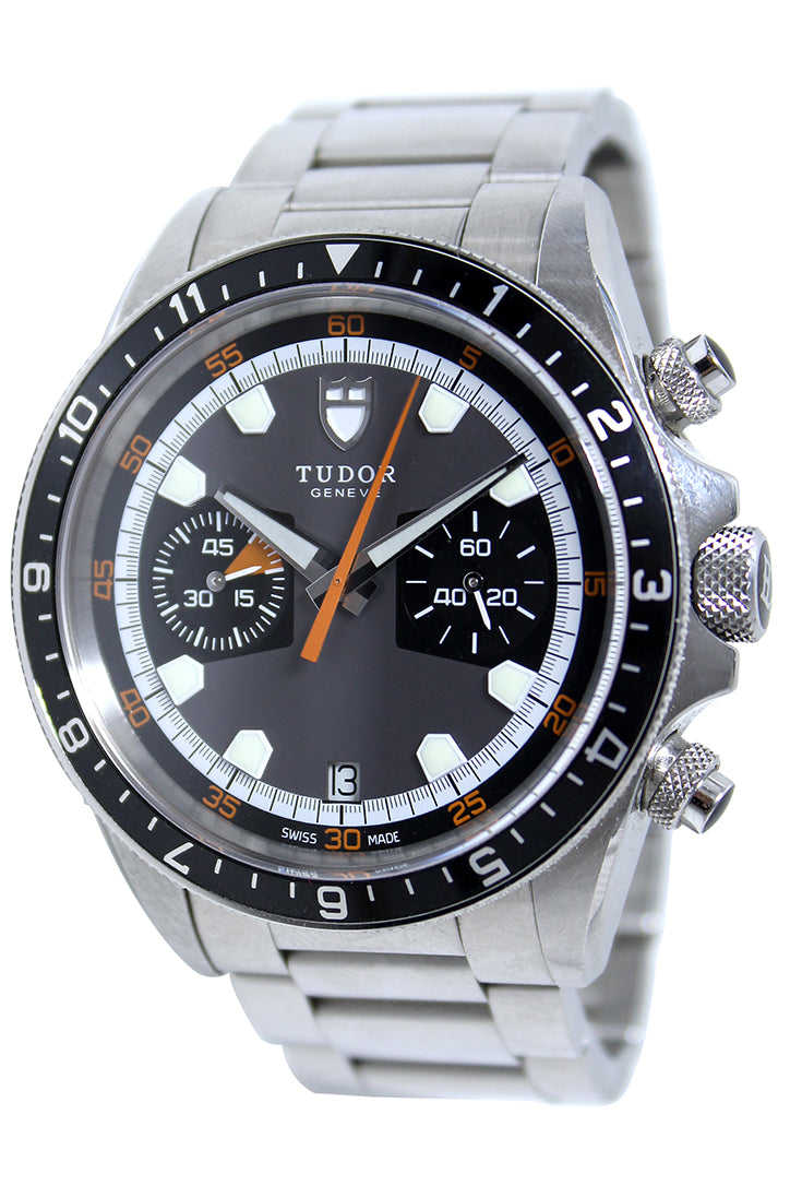Tudor Blackshield Automatic Chronograph Black Dial Black Rubber Men's Watch 42000CN-BKRS