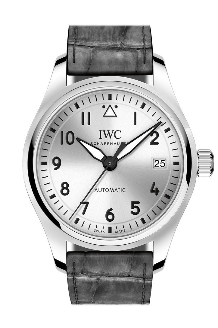 Iwc Pilot Silver Dial Automatic 36Mm Mens Watch Iw324007