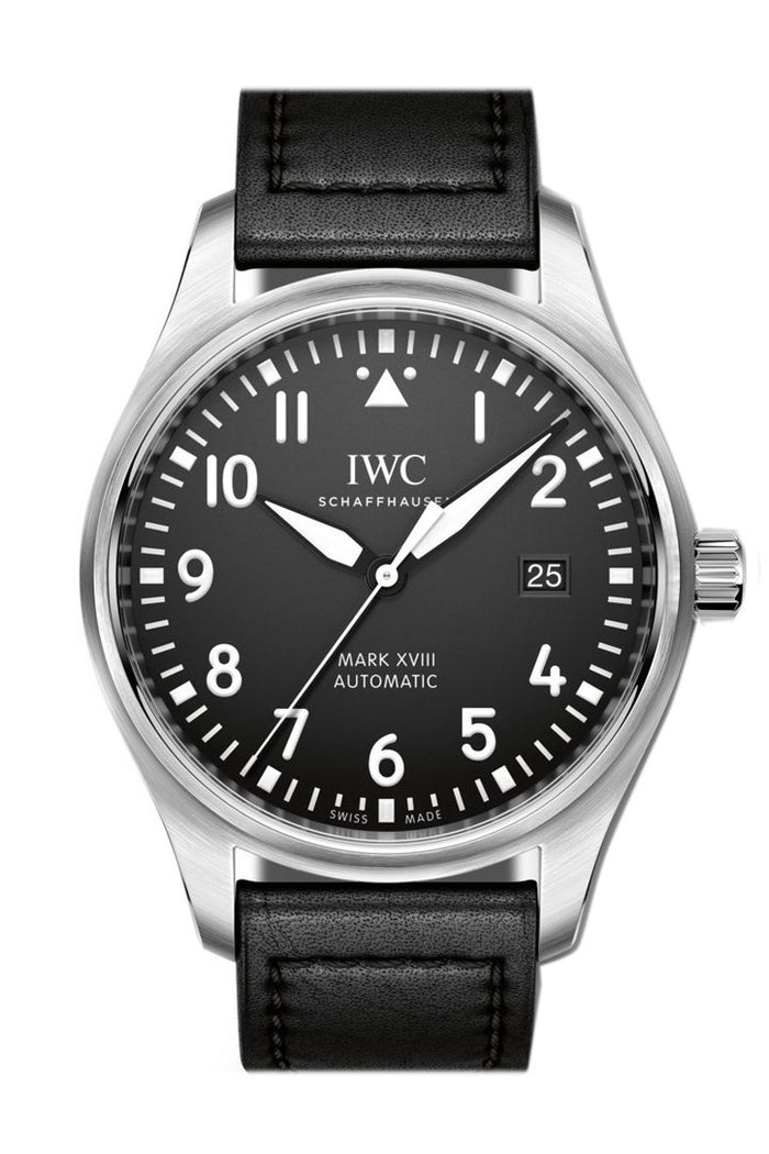 IWC Pilot's Mark XVIII Automatic Black Dial 40mm Men's Watch IW327001