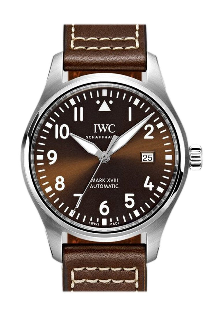 Iwc Pilot Mark Xviii Edition Automatic Brown Dial 40Mm Mens Watch Iw327003