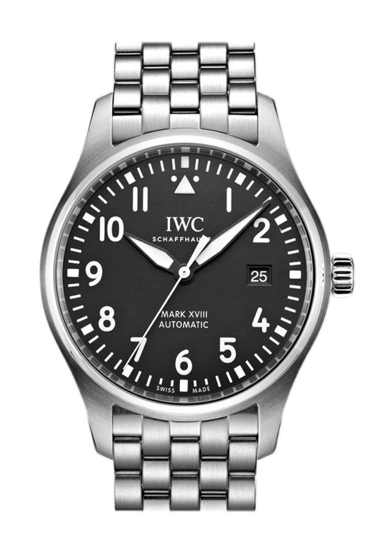 Iwc Pilot Automatic Black Dial 40Mm Mens Watch Iw327011