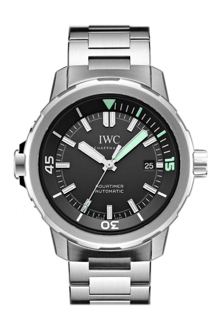 Iwc Aquatimer Black Dial Stainless Steel 42Mm Mens Watch Iw329002