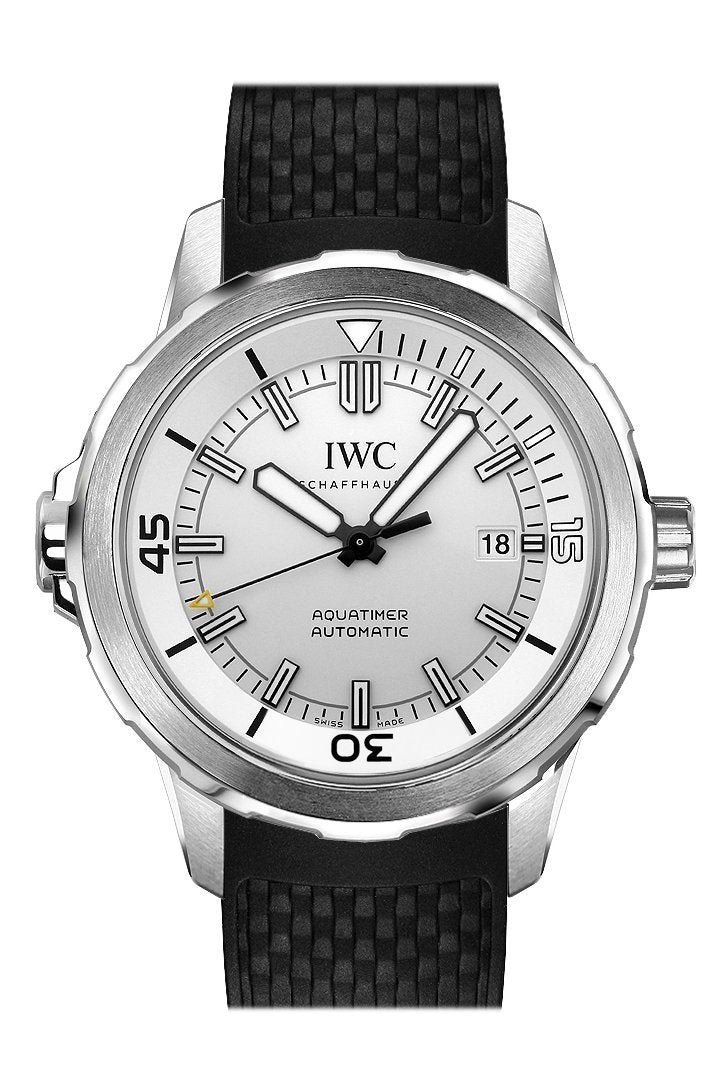 Iwc Aquatimer Automatic Silver Dial Black Rubber 42Mm Mens Watch Iw329003