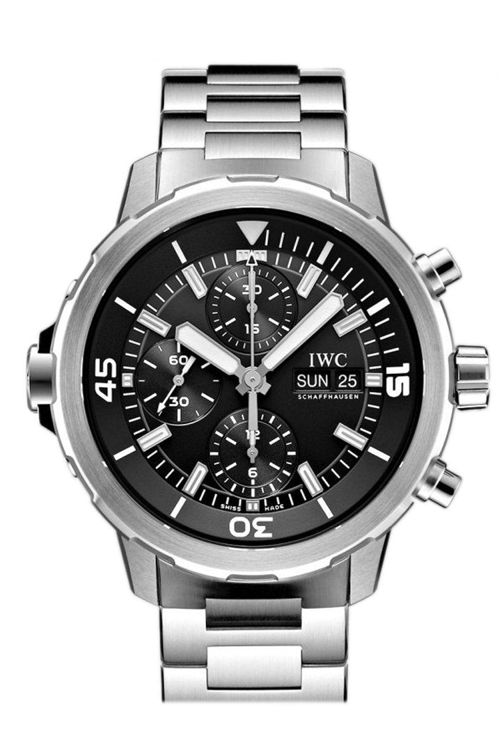 Iwc Aquatimer Automatic Chronograph Black Dial Stainless Steel 44Mm Mens Watch Iw376804