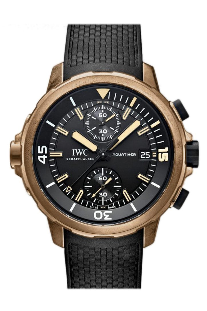 Iwc Aquatimer Chronograph Expedition Charles Darwin 44Mm Mens Watch Iw379503 Black