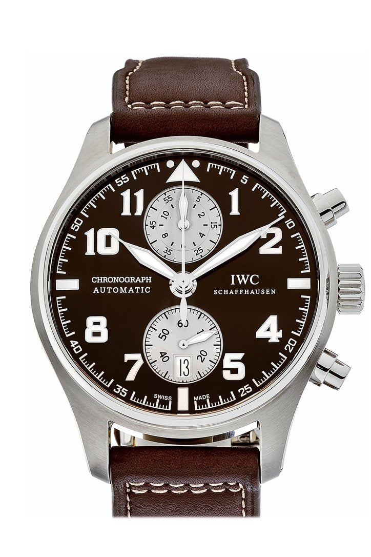 Iwc Pilots Antoine De Saint Exupery Chronograph Automatic 43Mm Mens Watch Iw387806 Brown