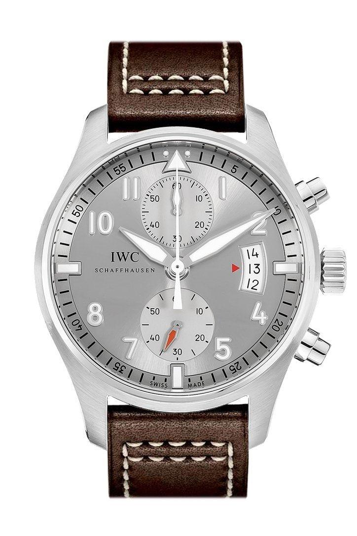 Iwc Pilot Spitfire Silver Dial Chronograph 43Mm Mens Watch Iw387809