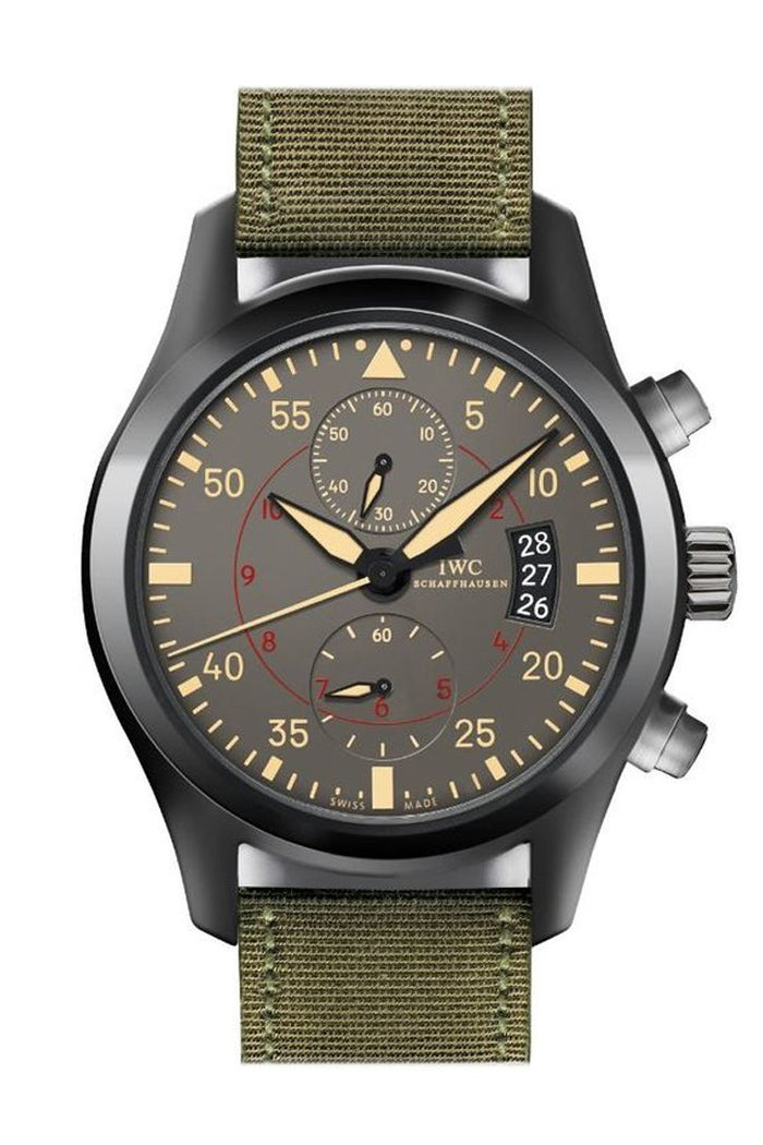 IWC Pilots Anthracite Dial Chronograph Ceramic Titanium 46mm Men's Watch IW388002