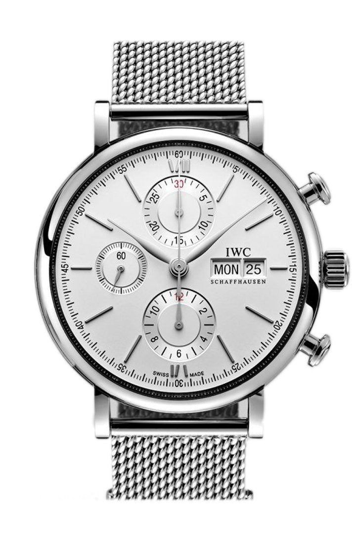 Iwc Portofino Automatic Chronograph Silver Dial 42Mm Mens Watch Iw391009