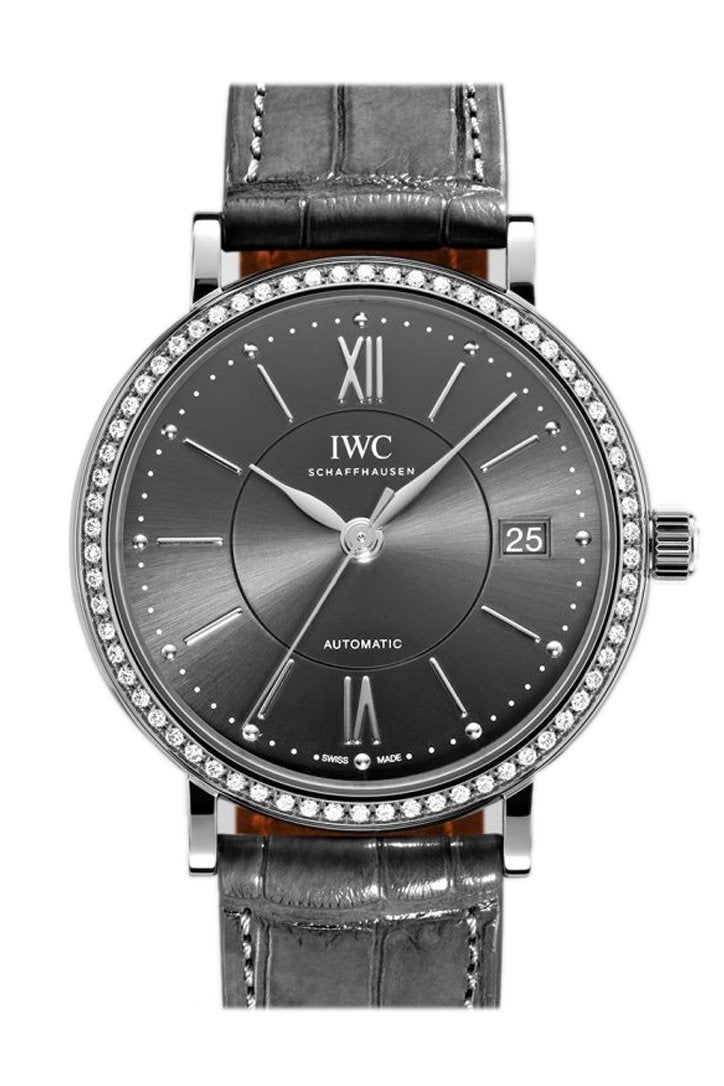 Iwc Portofino Automatic Mens 37Mm Watch Iw458104 Slate