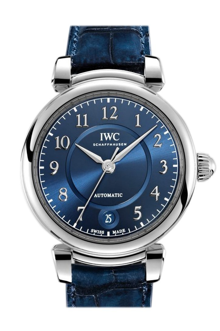 Iwc Da Vinci Blue Dial Automatic 36Mm Mens Leather Watch Iw458312