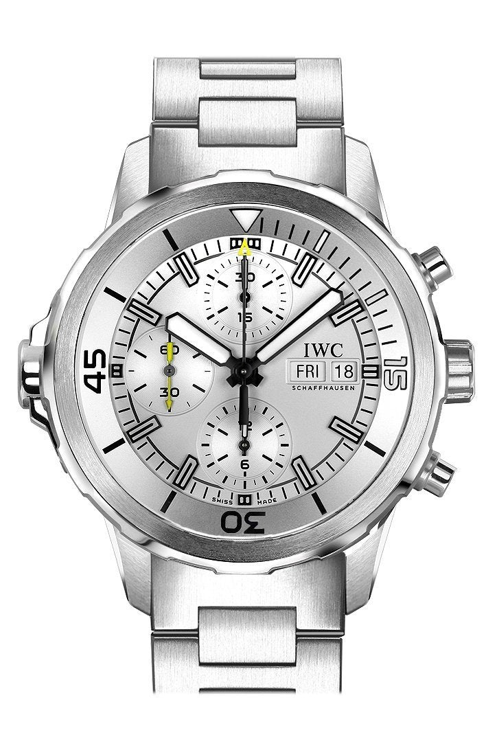 Iwc Aquatimer Chronograph Silver Dial Stainless Steel Mens Watch Iw376802