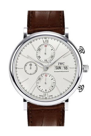 Iwc Portofino Automatic Chronograph Silver Dial 42Mm Mens Watch Iw391007
