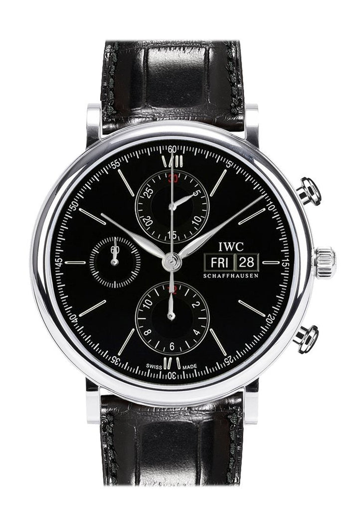 IWC Portofino Automatic Chronograph Black Dial 42mm Men's Watch IW391008