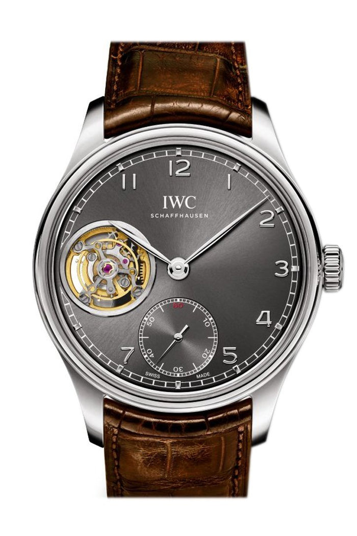 IWC Portuguese Tourbillon Hand Wound White Gold Men's Watch IW546301