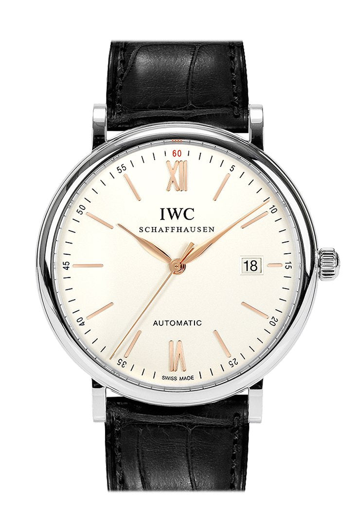 IWC Portofino Automatic Silver-plated Dial Men's Watch IW356517