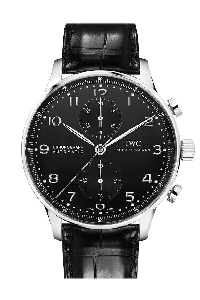 Iwc Portuguese Automatic Chronograph Black Dial Mens Watch Iw371447