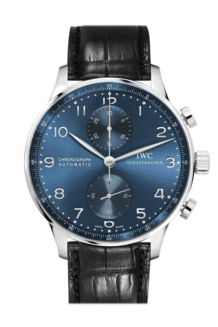 IWC Portugieser Automatic Chronograph Blue Dial Men's Watch IW371491