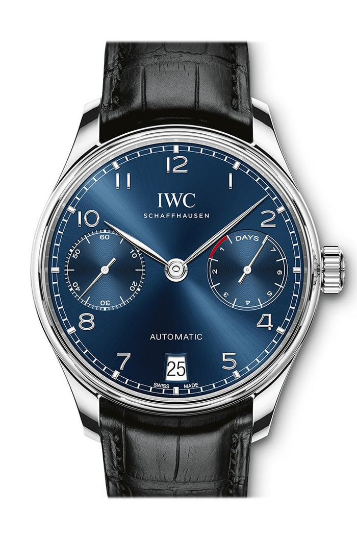 IWC Portugieser Automatic Blue Dial Men's Watch IW500710