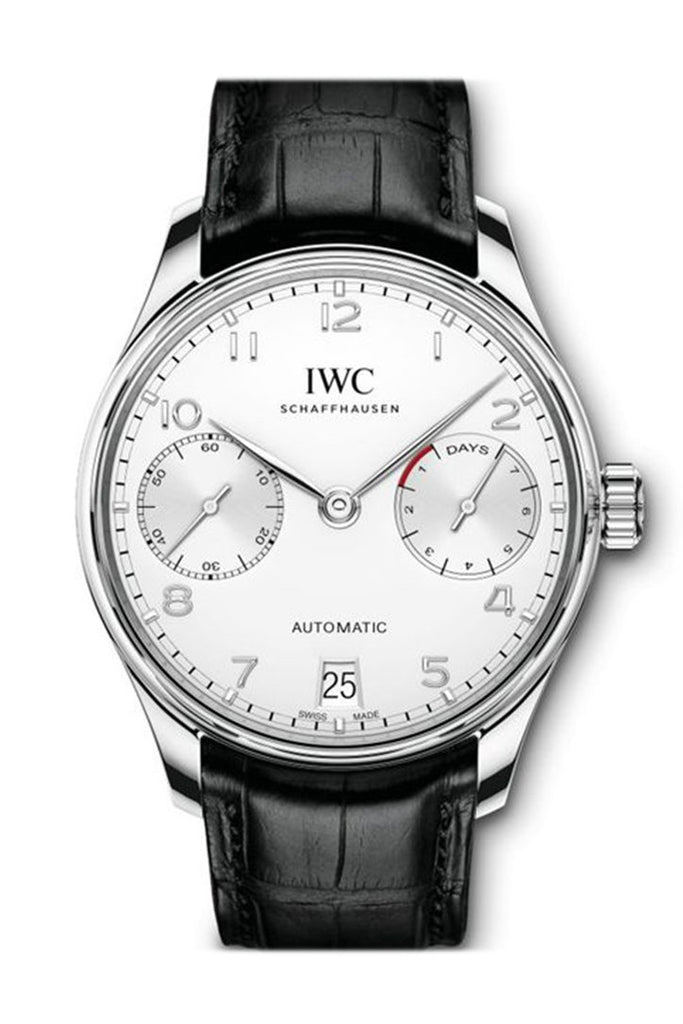 Iwc Portuguese 7 Days In Stainless Steel Silver Dial Mens Watch Iw500712