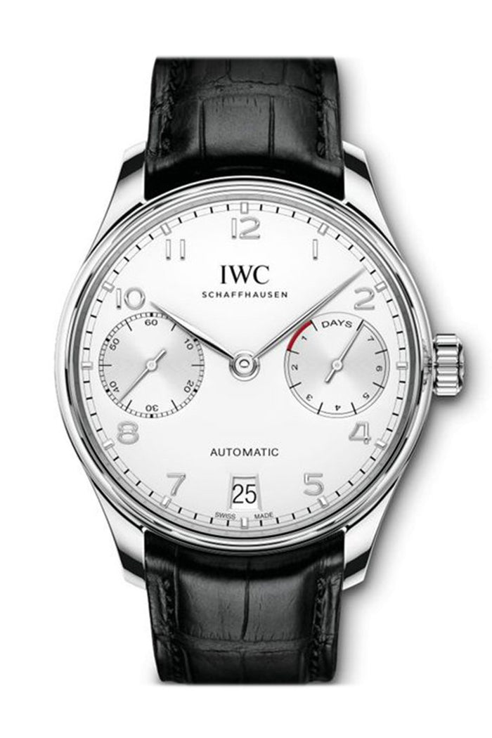 IWC Portuguese 7 Days 42mm in Stainless Steel Silver Dial IW500712