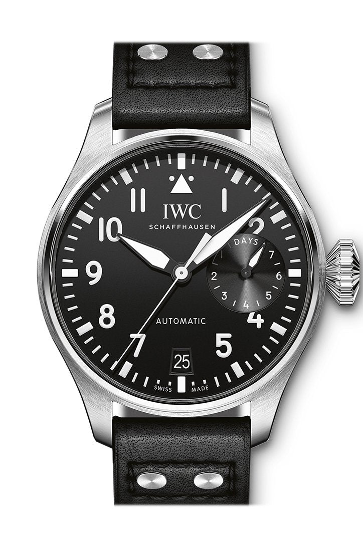 Iwc Big Pilot Automatic Black Dial Leather Mens Watch Iw501001