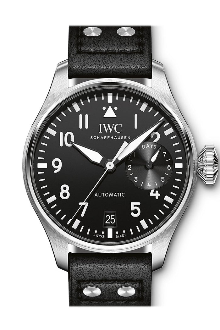 IWC Big Pilot Automatic Black Dial Black Leather Men's Watch IW501001