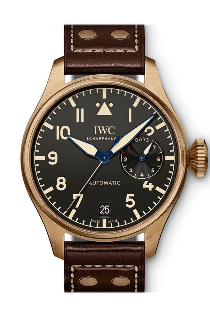 Iwc Big Pilots Heritage Black Dial Brown Leather Mens Watch Iw501005